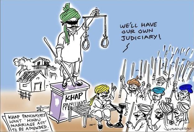 Image result for khap panchayat cartoon