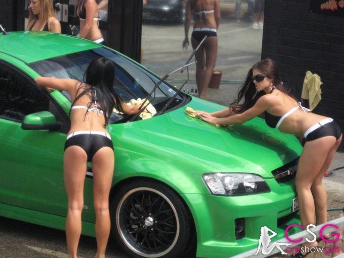 Sexy car wash babes