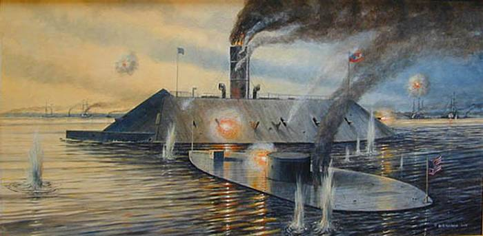 a history of the uss merrimac and the naval warfare of the american civil war Examining ships that have made an impact on naval warfare and naval history  uss monitor the american civil war was  index of naval warships of history.