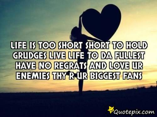 Life39s Too Short To Hold Grudges Quotes T