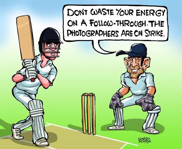 funny cartoons of cricketers indiatimescom