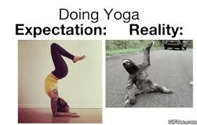 yoga expectation v/s reality photos  indiatimes