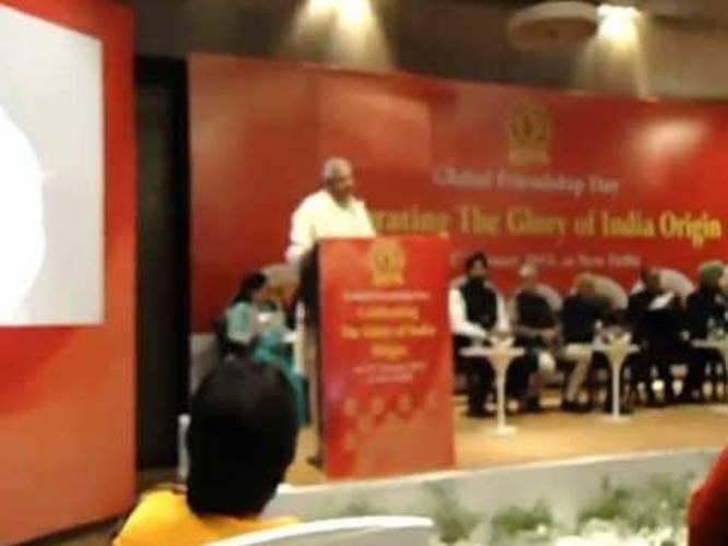 Aruna & Hari Sharma Receiving Bharat Jyoti Award, Le Meridien New
