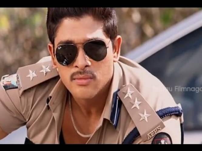 race gurram movie scenes allu arjun entry as a police officer