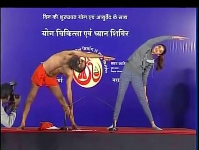 Baba Ramdev Yoga Class With Shilpa Shetty