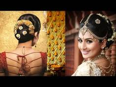 South Indian Bridal Makeup And Hairstyle Tutorial Simple Bridal - Bun hairstyle for reception