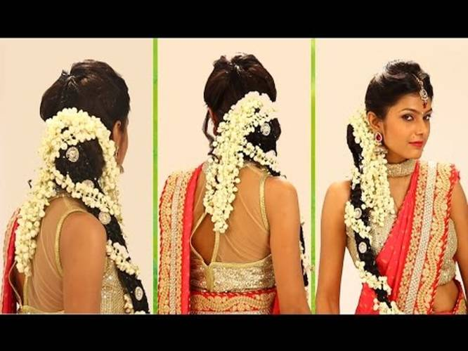 Indian Bridal Hairstyle Step By Step South Indian Bridal Hair