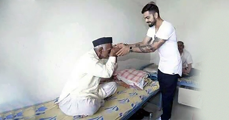Virat Kohli Spending A Day At An Old Age Home Is Exactly