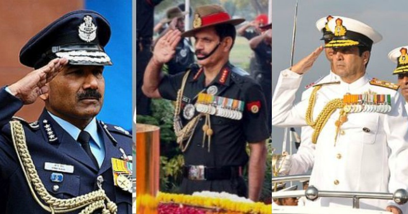 Heres Why The Indian Army Navy And Air Force Salutes Differ From