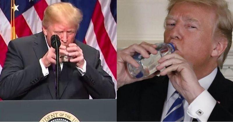 Reddit Trump Drinks Water