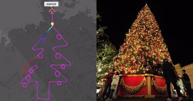 Talented Pilot Draws A 39 Christmas Tree 39 Flight Path In The