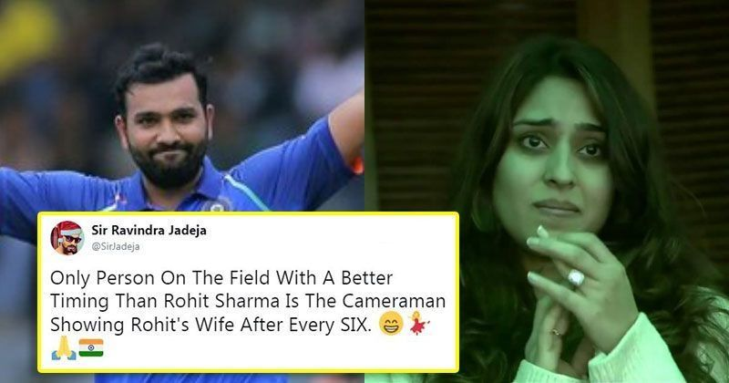 Rohit Sharma's Wife Tears Up As He Scores His Double Century, The Internet Celebrates