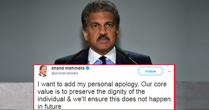 Anand Mahindra Apologises After A Tech Mahindra Employee
