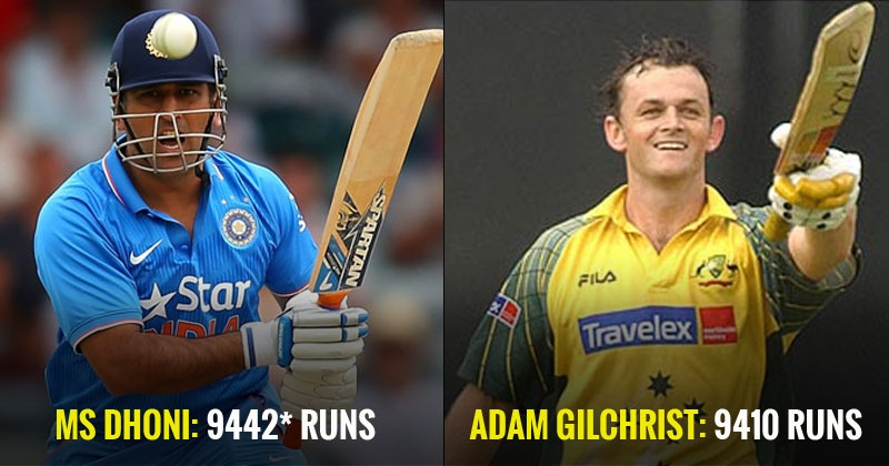 Ms Dhoni Goes Past The Legendary Adam Gilchrist Becomes