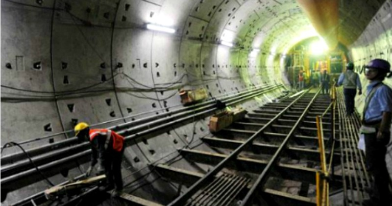 Construction Of India S First Underwater Rail Tunnel