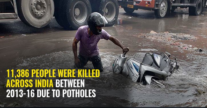 Killer Potholes On Roads Claim Lives Of At Least 2,500 People Every Year Across India