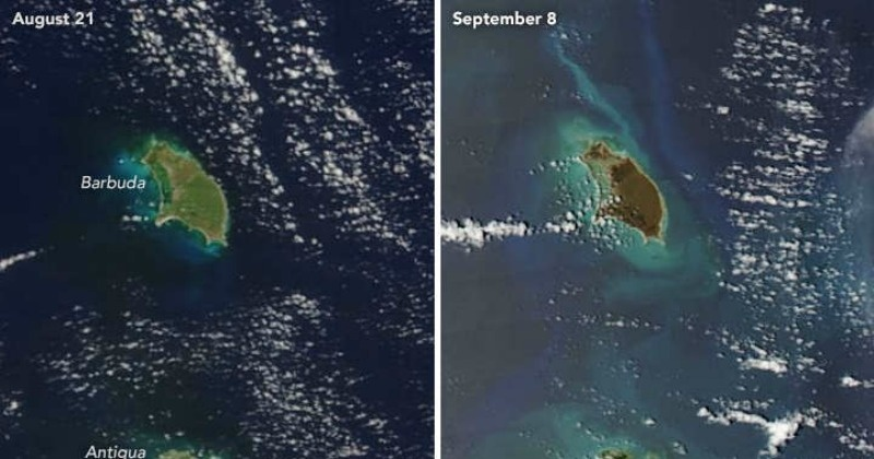 Before And After Satellite Images Show How Hurricane Irma