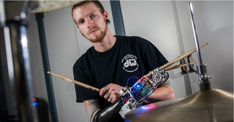 This Cyborg Musician Used His Cool Bionic Arm To Become The Fastest Drummer Alive In The World