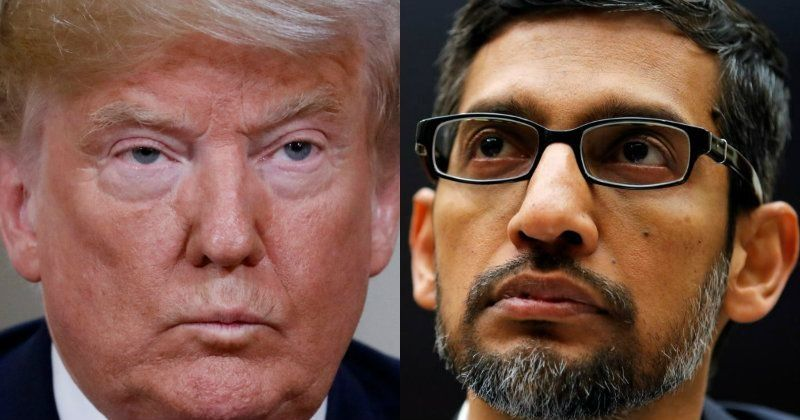 Image result for Sundar Pichai Explains Why Trump's Photo Comes Up When You Google 'Idiot', And It's Hilarious