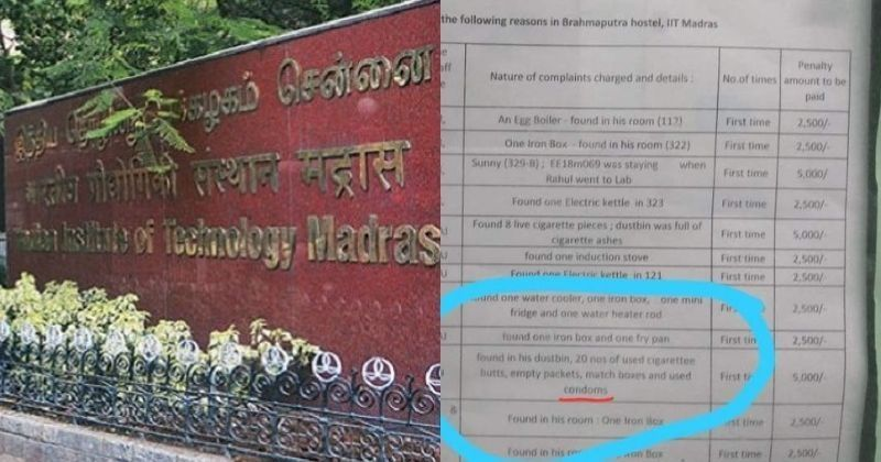 IIT Madras Detail: IIT Madras Hostel Puts Up Details Of Used Condoms Found In