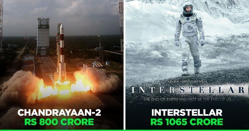 Image result for ISRO Does It Again, Moon Mission Chandrayaan-2 Costs Less Than Hollywood Movie 'Interstellar'