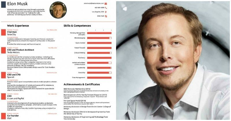 elon musk u0026 39 s one-page-long resume is proof that a long one will do you no good