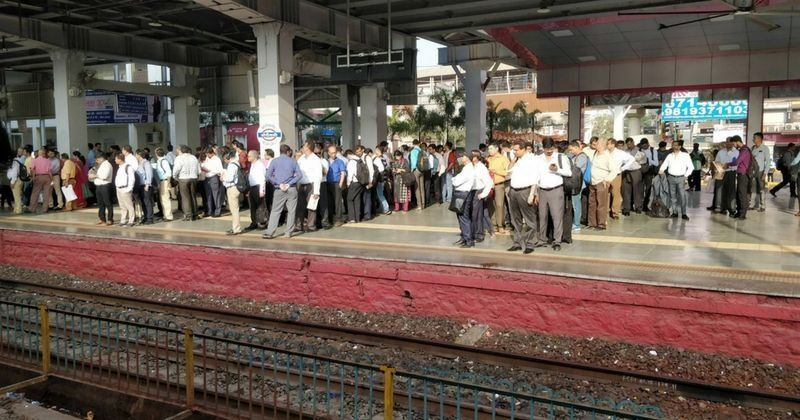 Rare Photo Of Locals Queuing Up At Mumbai's Borivali Station Has Left Many People Stunned - Indiatimes.com