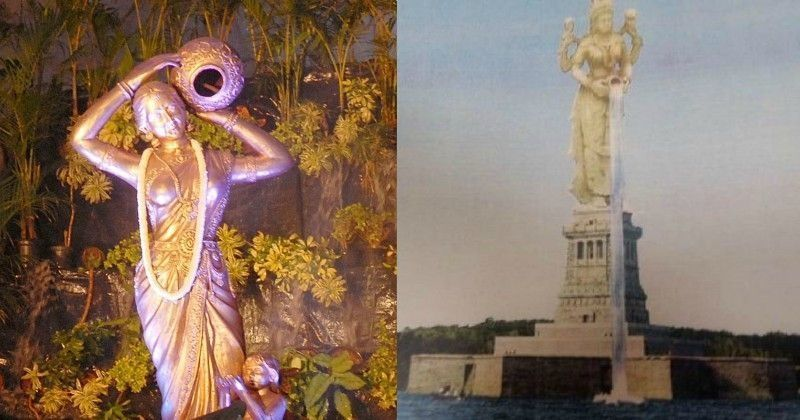 Image result for latest images of 'Mother Cauveri' statue proposed by Karnataka government in Mandya district