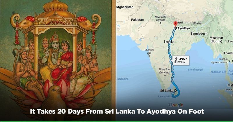Ayodhya In India Map.Google Maps Reaffirms Ramayana It Takes Exactly 20 Days From Sri