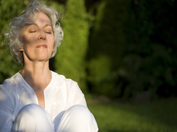 Deep breathing techniques and visualization