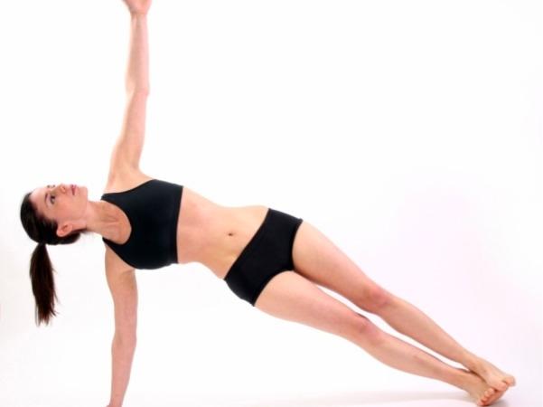 Yoga helps tone abs