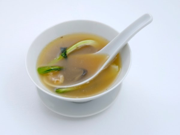 Clear broth soup: