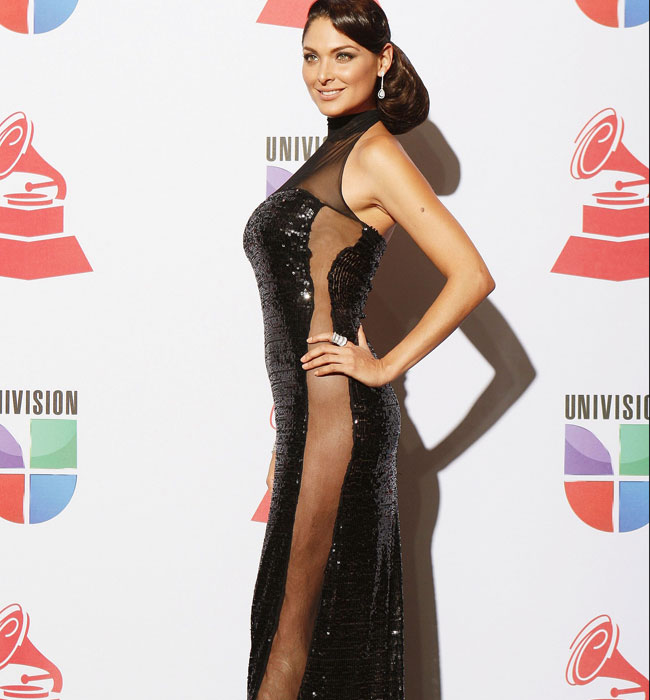Mexican actress Blanca Soto poses backstage at the 12th annual Latin Grammy Awards in Las Vegas, Nevada