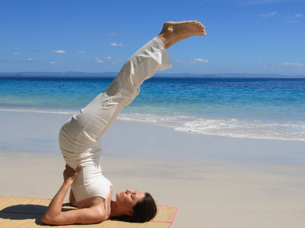 Sarvangasana or Shoulderstand