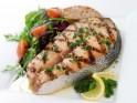 Mediterranean style grilled salmon