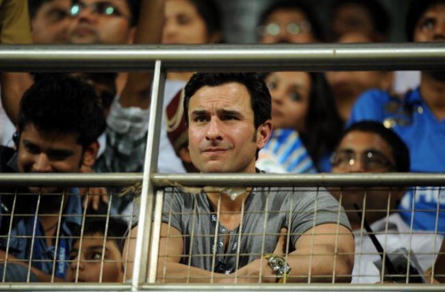 Saif Ali Khan in the stands
