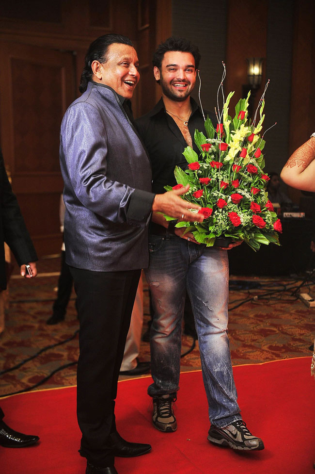 Mithun Chakraborty with son Mahaakshay