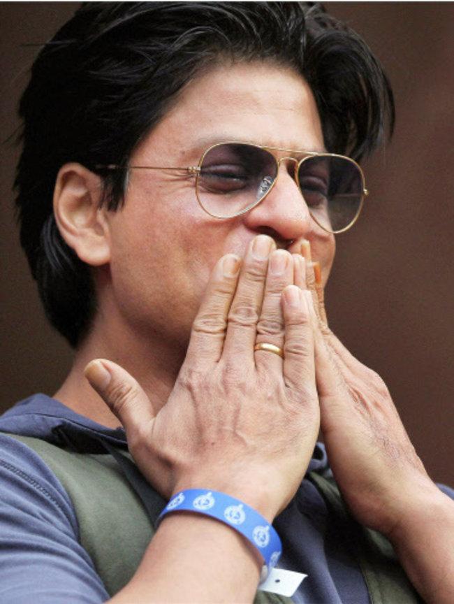 Shah Rukh Khan in Bangalore for IPL 5