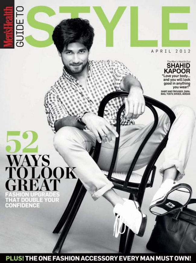Shahid Kapoor on Men