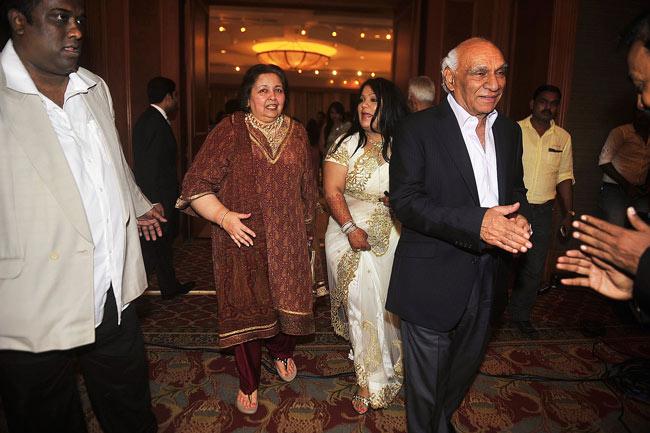 Yash Chopra with wife Pamela