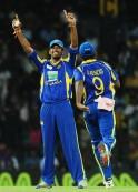 Sri Lankan cricketer Sachithra Senanayak