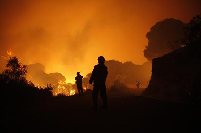 Wildfire in Spain