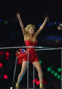 Geri Halliwell of Spice Girls performs d