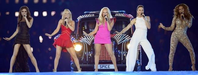 Spice Girls perform during the closing c