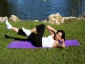 Side lying shoulder & double leg raise