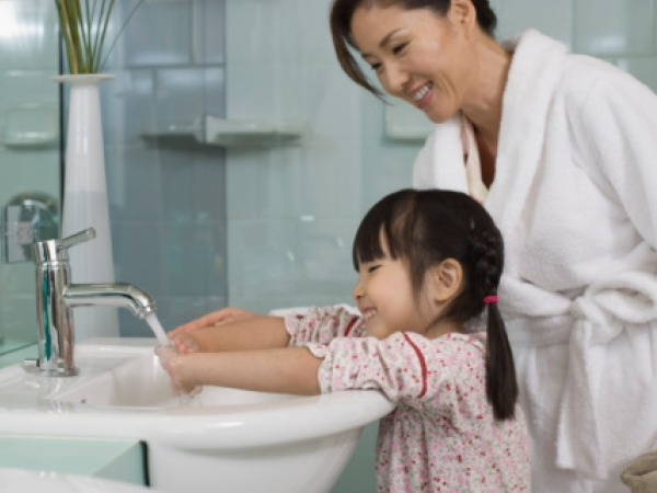 Washing hands hardly helps