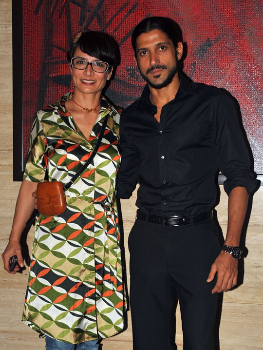 FARHAN AKHTAR WITH WIFE ADHUNA