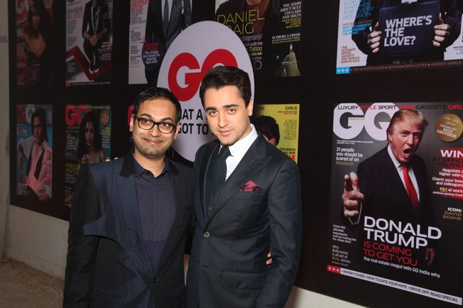 Che Kurrien, Editor GQ India and Imran Khan