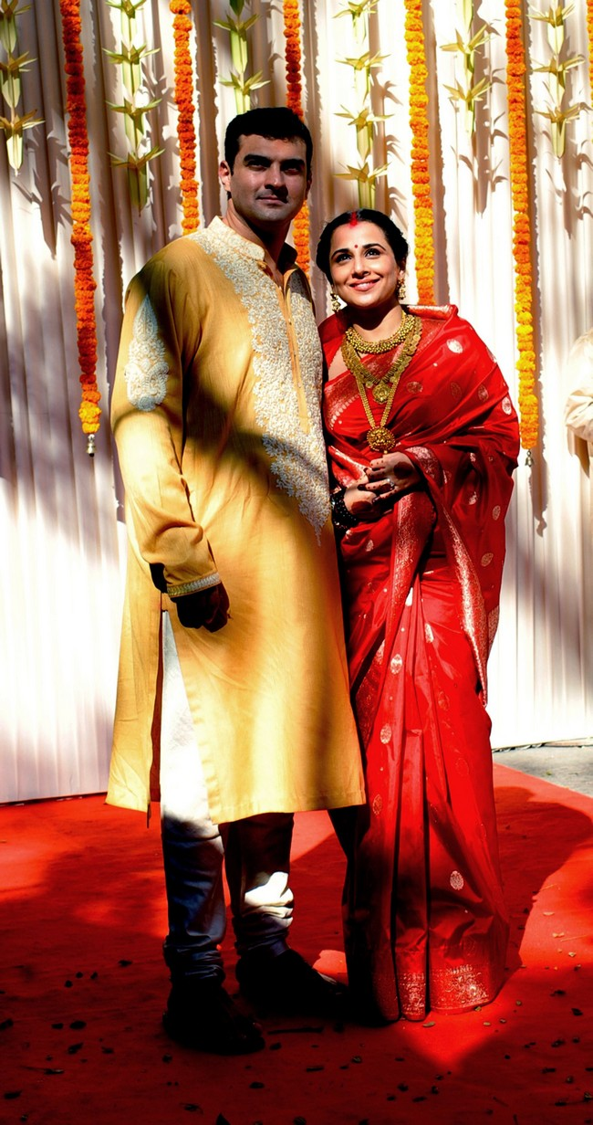 Vidya Balan and Siddharth Roy Kapur at their wedding ceremony in Bandra, Mumbai