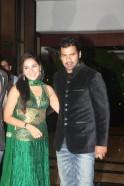 Shabbir Ahluwalia with wife Kanchi Kaul